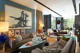 Salas / recibidores de estilo  por Viterbo Interior design