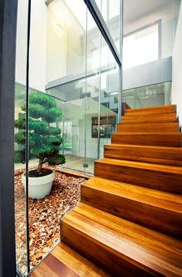 Pasillos y recibidores de estilo  por rdl arquitectura