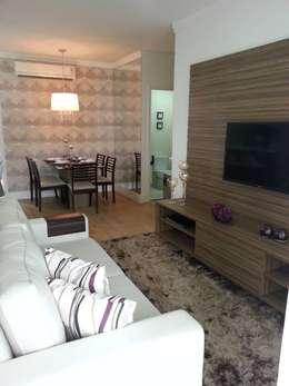 Salas/Recibidores de estilo moderno por SD arquitetura & Interiores