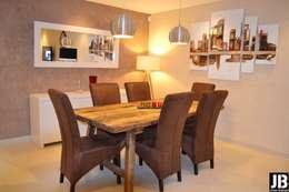 Construction Neuve de Julien et Ingrid: Salle à manger de style de style Minimaliste par JbHouseDesigner