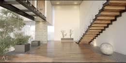 Pasillos y vestíbulos de estilo  por 21arquitectos