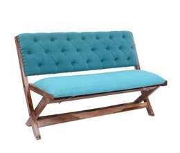 Natural Fibres Floding Cross Leg Wooden Accent Chair:  Garden  by Natural Fibres Export
