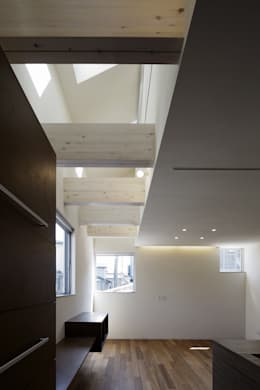 house in saitama: 株式会社廣田悟建築設計事務所が手掛けたリビングです。