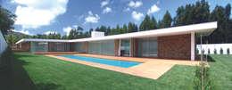 Casas de estilo moderno por A.As, Arquitectos Associados, Lda