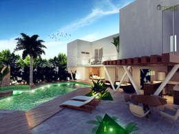 modern Pool by Armonía arquitectos