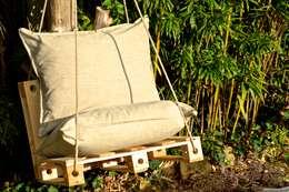 PALPOUF SUSPENDU : Jardin de style de style eclectique par Pal-ID