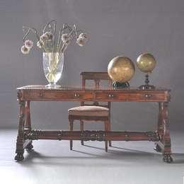Antieke bureaus / Engels William IV Librarytable / bureau ca. 1835 Palissander (No803001) : klasieke Eetkamer door De Dubbele Deur AntiekSite.nl