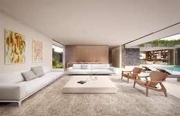 Livings de estilo minimalista por Mader Arquitetos Associados