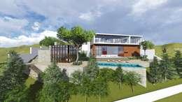 Casas de estilo moderno por unounoarquitectos