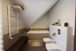 Baños de estilo moderno por Architektura Wnętrz Magdalena Sidor