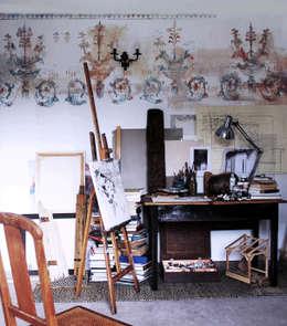 pracownia2: styl , w kategorii Ściany i podłogi zaprojektowany przez szaro-biało