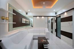 INTERIOR DESIGNERS IN KHARGHAR: modern Living room by DELECON DESIGN COMPANY