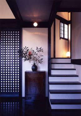 misawa house: 髙岡建築研究室が手掛けた廊下 & 玄関です。