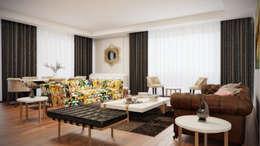 Decora – Aşiyan Cephe: modern tarz Oturma Odası