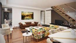 Salas de estar modernas por Decora