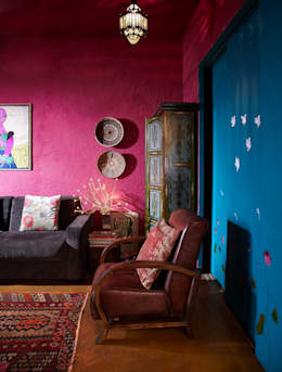 eclectic Media room by Interface