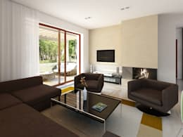 Salas de estar modernas por BIURO PROJEKTOWE MTM STYL