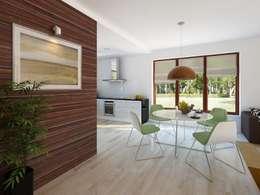 Biuro Projektów MTM Styl - domywstylu.pl: modern tarz Yemek Odası