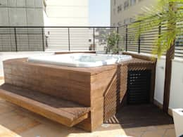 Terrasse de style  par FernandesMelo Arquitetura e Engenharia