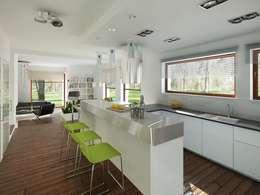 Wnętrze projektu Amelia: styl , w kategorii Kuchnia zaprojektowany przez Biuro Projektów MTM Styl - domywstylu.pl