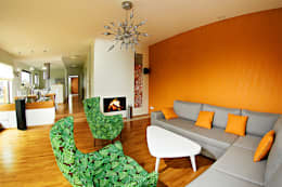 Biuro Projektów MTM Styl - domywstylu.pl: modern tarz Oturma Odası