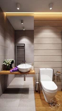 Baños de estilo minimalista por студия визуализации и дизайна интерьера '3dm2'