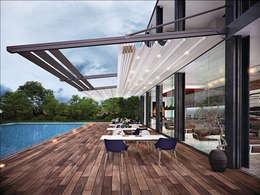 Terrasse de style  par Pergolato SRL.