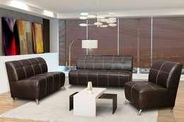 Salas: Salas de estilo moderno por Vicenza Muebles