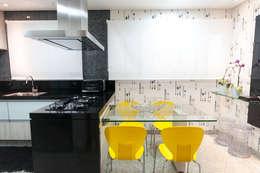 Residência Central Park - São Bernardo do Campo: Cozinhas ecléticas por Haus Brasil Arquitetura e Interiores