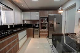مطبخ تنفيذ Haus Brasil Arquitetura e Interiores