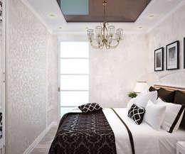 Habitaciones de estilo moderno por Студия дизайна Interior Design IDEAS
