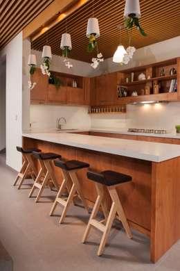 Casa Ming: Cocinas de estilo moderno por LGZ Taller de arquitectura