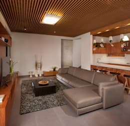 Casa Ming: Salas de estilo moderno por LGZ Taller de arquitectura