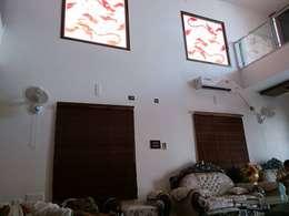 S RESIDENCE : modern Living room by DESIGNER GALAXY