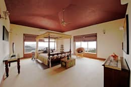 Lonavla Bungalow: asian Bedroom by JAYESH SHAH ARCHITECTS