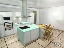 Cocinas de estilo moderno por Tiffany FAYOLLE