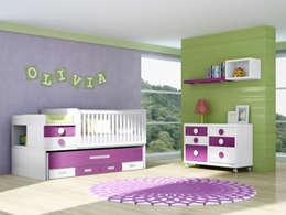 modern Nursery/kid's room by CREA Y DECORA MUEBLES