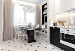 Городок Б, 117 м²: Кухни в . Автор – Bronx