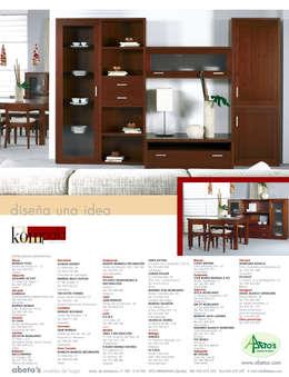 Salle à manger de style de style Moderne par ABETO'S MUEBLES DE HOGAR