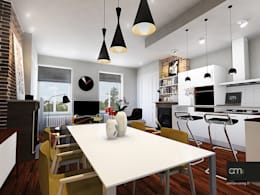 Appartement à Oullins (69): Salle à manger de style de style Moderne par atelier AMEG