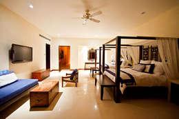 BR  ARQUITECTOS: tropikal tarz tarz Yatak Odası
