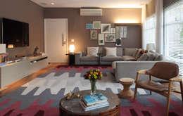 Salas de estilo moderno por MF Arquitetos