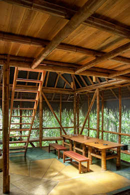 tropical Dining room by IR arquitectura