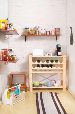 DESPENSA ORGANIZADA: Cozinha  por Meu Móvel de Madeira