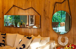 غرفة المعيشة تنفيذ Marina Linhares Decoração de Interiores