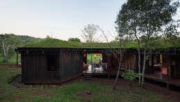 IR arquitectura: kırsal tarz tarz Yemek Odası