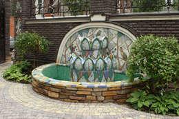 Jardín de estilo  por ООО 'Арт-керамика Владимира Ковалева'