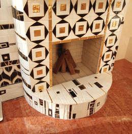 asiatische Wohnzimmer von ООО 'Арт-керамика Владимира Ковалева'