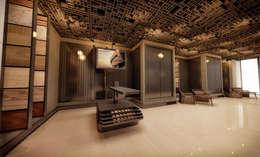 Studio Vertebra – Novawood: modern tarz Çalışma Odası