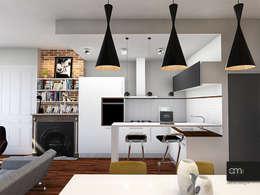 Appartement à Oullins (69): Cuisine de style de style Moderne par atelier AMEG